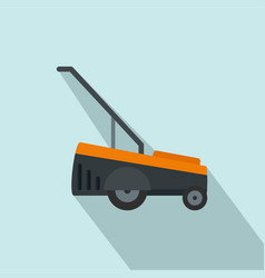 Hand grass cutter icon flat style vector
