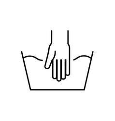 handwash outline icon vector image