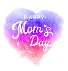 happy moms day greeting card with flower vector image