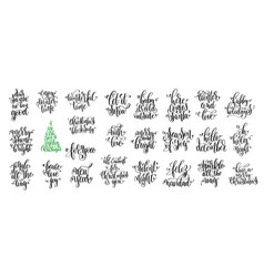 happy new year celebration holidays hand lettering vector image