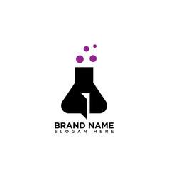 Home lab logo design template vector