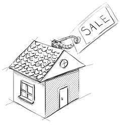 House with sale or price label vector image