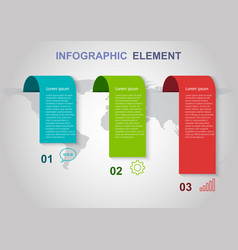 infographic elements template on gray background vector image