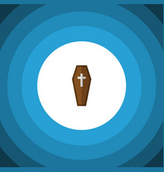 Isolated coffin flat icon casket element vector