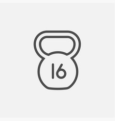Kettlebell icon isolated on white background vector