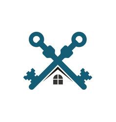 key home real estate logo vector image