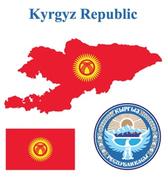Kyrgyz Republic Flag vector image