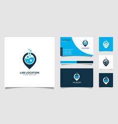 Lab location logo design vector