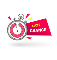 Last chance stopwatch countdown vector