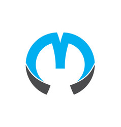 letter m logo icon vector image