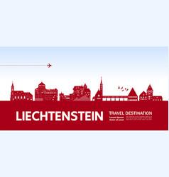 Liechtenstein travel destination vector