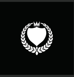 luxury crest decorative shield logo vector image