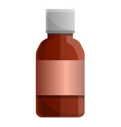 medical syrup bottle icon cartoon style vector image