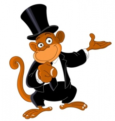 monkey as businessman vector image