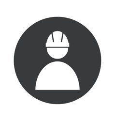 Monochrome round builder icon vector