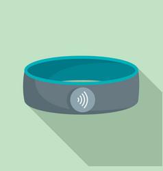 Nfc smart bracelet icon flat style vector