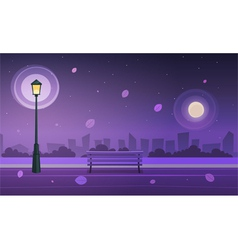 Night in city park vector