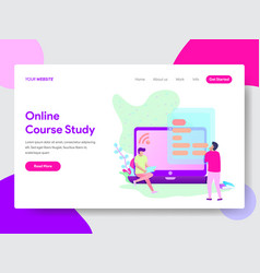 online course student concept vector image