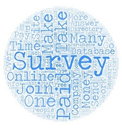 Online Paid Surveys Money Maker or Scam text vector image