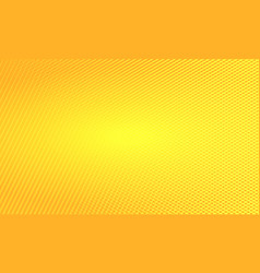 orange pop art background vector image