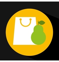 package buying fruit pear fresh icon vector image