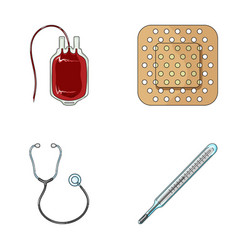 Package with donor blood and other equipment vector