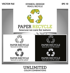 Paper Recycle Logo vector