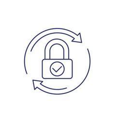 Password reset change line icon on white vector