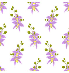 Pattern with orchids vector