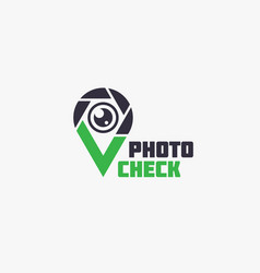 photo check logo vector image