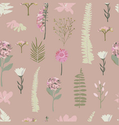 Pink seamless pattern background with vector