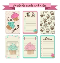 Printable journaling cards vector