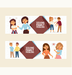quarrel people man woman in family conflict vector image
