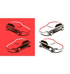 racing car logo transport vehicle symbol vector image
