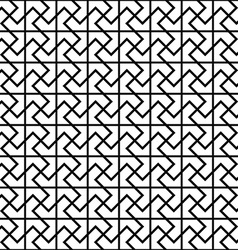 Repeating black and white floor pattern vector
