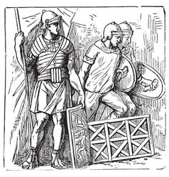 Roman segmented armors vector