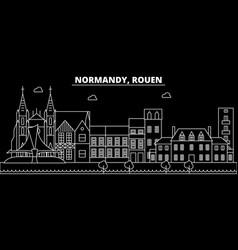Rouen silhouette skyline france - rouen vector