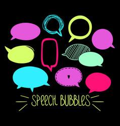 Round speech bubbles 2-06 vector