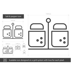 salt and pepper line icon vector image