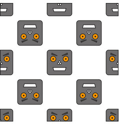 Seamless pattern of robots vector