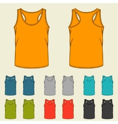 Set of templates colored singlets for men vector image