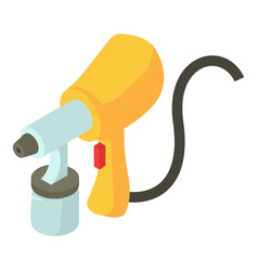 Spray gun icon isometric 3d style vector