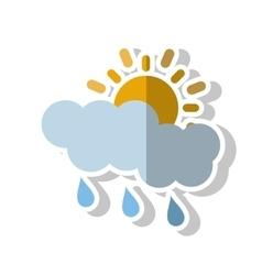 Sun cloud and rain design vector image