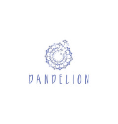 Template concept flat logo icon dandelion vector