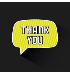 thank you card design vector image