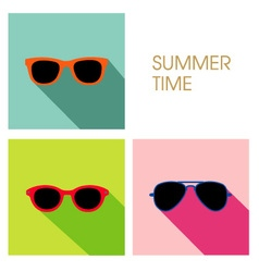 The sunglasses summer set design vector image