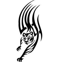 tiger in tribal style - vector image