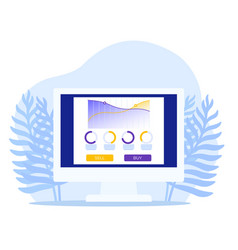 trading software on computer screen vector image