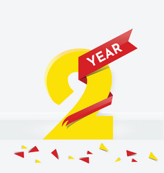 Two year anniversary vector