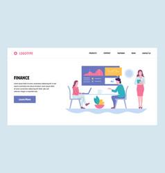 Web site gradient design template vector